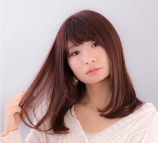 アップルティー×ツヤ髪セミロングの画像