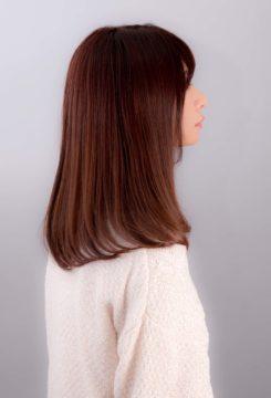赤坂美容室 セミロング 暖色カラー ツヤ髪