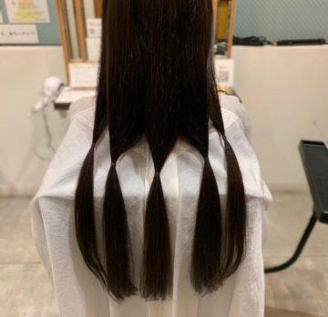 長さを残したヘアドネーションの画像
