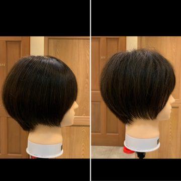 毛量調整での質感、見え方の違いの画像