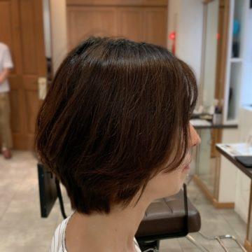 赤坂美容院 ショートヘア ハイライトカラー
