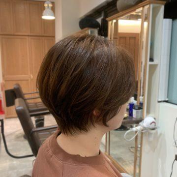 赤坂 美容院 ショート 艶髪 艶カラー ケアカラー